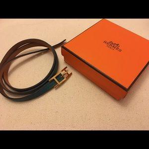 Authentic EUC Hermes Behapi Leather Bracelet